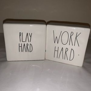 RAE DUNN ARTISAN COLLECTION Play Hard Work Hard